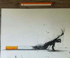 smoking, death, and smoke image