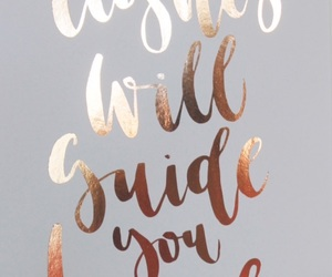 grey, rose gold, and quotes image