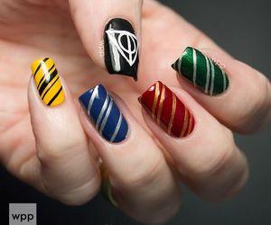 harry potter, nail art, and nails image