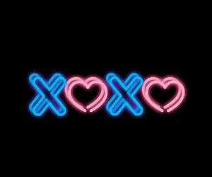 neon, love, and background image