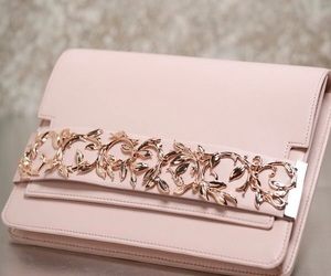 bag, pink, and clutch image