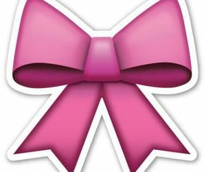 emoji, bow, and pink image