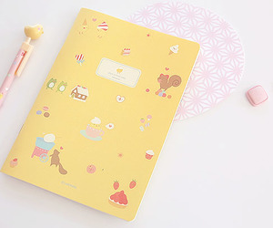 yellow and notebook image