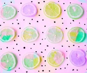 pastel, lemon, and food image