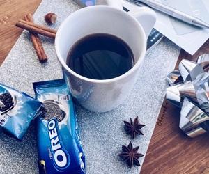 blue, Cinnamon, and coffee image