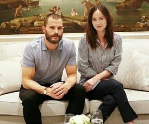 dakota johnson, Jamie Dornan, and fifty shades darker image