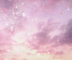 sky, pink, and stars image