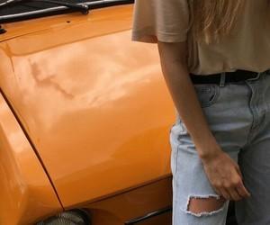 orange, style, and aesthetic image