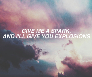 band, explosions, and Lyrics image