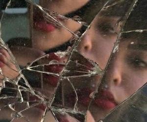broken, indie, and lipstick image
