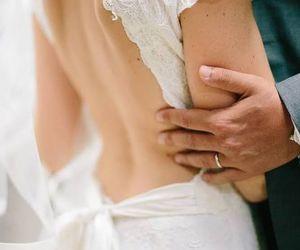 bridal, couple, and dress image