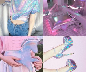 colors and holographic image