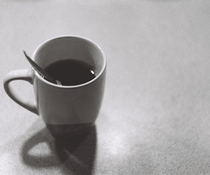 black and white, coffee, and zenit ttl image