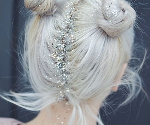 glitter, hair, and girl image