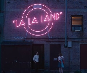 la la land, movie, and neon image