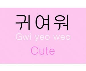 kpop, korean words, and cute image
