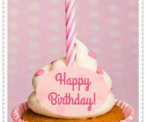 birthday, candle, and pink image