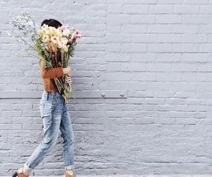 flowers, style, and jeans image