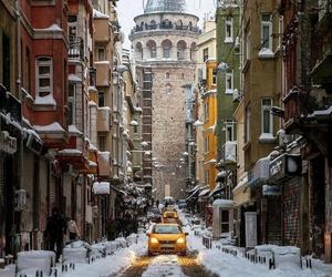 galata tower and İstanbul-turkey image