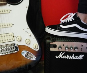 electric, guitar, and marshall image