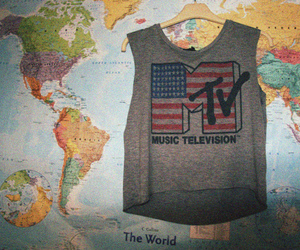 mtv, map, and world image