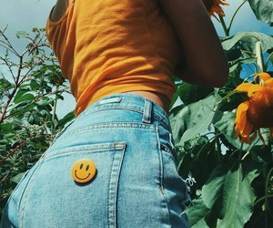 aesthetic, flowers, and jeans image