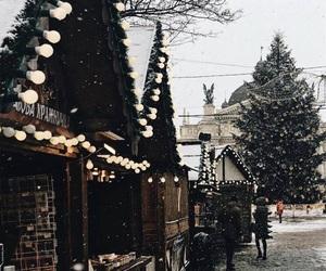 lights, lviv, and winter image