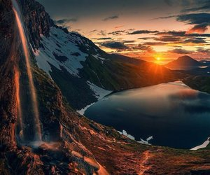 lake, nature, and beautiful image