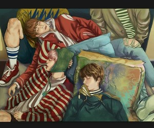 bts, spring day, and fanart image