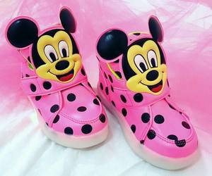 child, mickey, and pink image