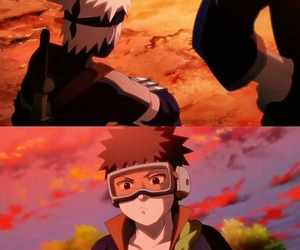 kakashi, naruto, and uchiha obito image