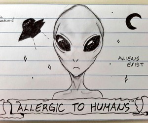aliens, art, and space image