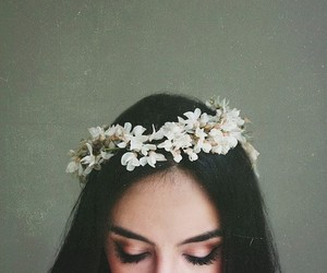 flowers, hair, and hair style image