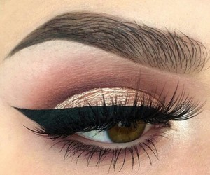 beauty, eyebrow, and eyeliner image