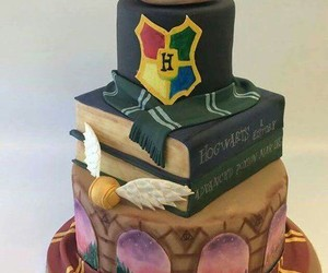 cake, harry potter, and food image