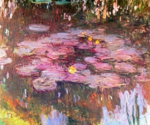 art, monet, and pink image