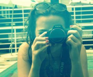 camera, photo, and pool image