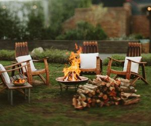 bonfire, home, and courtyard image