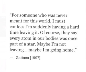 1997, Gattaca, and quote image