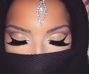 contour, eyeshadow, and glam image