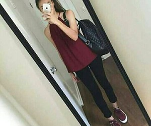 outfit, girl, and black image