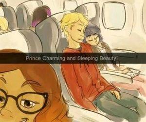 marinette, Adrien, and ladybug image