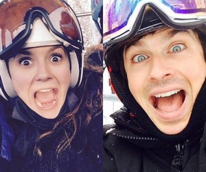 ian somerhalder, Nina Dobrev, and nian image