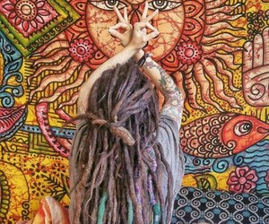 boho, dreads, and hippie image