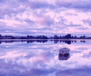 purple and boat image