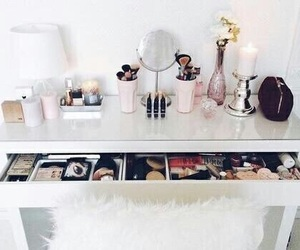 makeup, room, and decor image