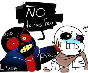 blueberry, error!sans, and mini comic image