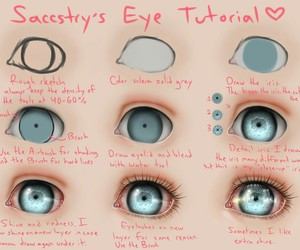 eyes and tutorial image