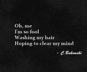 quote, charles bukowski, and fool image