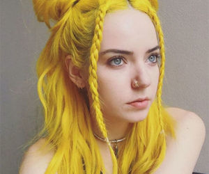 yellow, hair, and yellow hair image